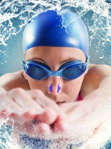 Nasenklammern zum Schwimmen